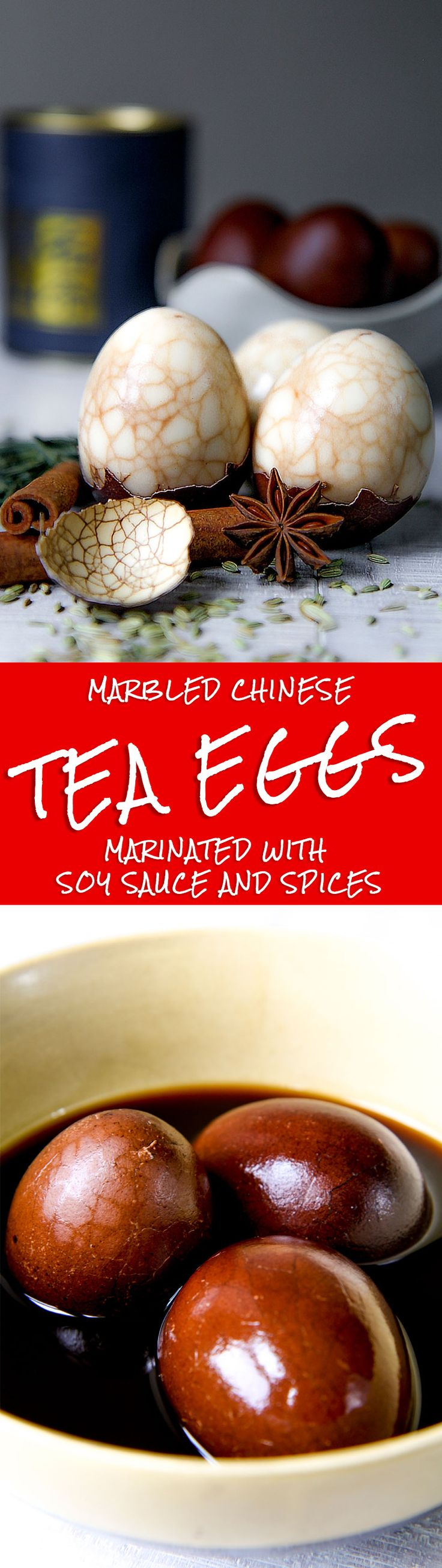MARBLED CHINESE TEA EGGS RECIPE - Chinese tea eggs are a tasty and beautiful snack, spectacular thanks to their spiderwebded texture. The first time I ate this marbled Chinese specialty I was in Beijing. Even only a bite is unforgettable. A strong and particular flavor, not for all, but a must-to-try! - asian recipes traditional idea snack recipe