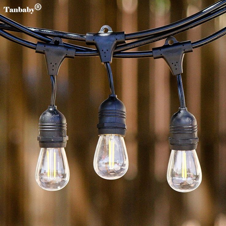 Tanbaby 15M 15 LED E26/E27 String Lights Waterproof Indoor/ Outdoor Street Garden Backyard Holiday Decoration String Led