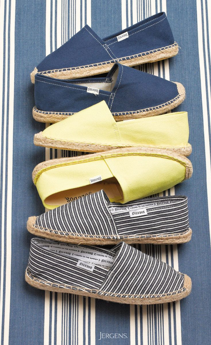 In summer espadrilles are a must, and these nautical styles from Soludos are a new favorite.