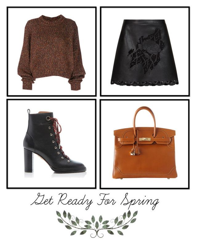 """Untitled #35"" by eirenechoo on Polyvore featuring BCBGMAXAZRIA, Isabel Marant, Aquazzura and Hermès"