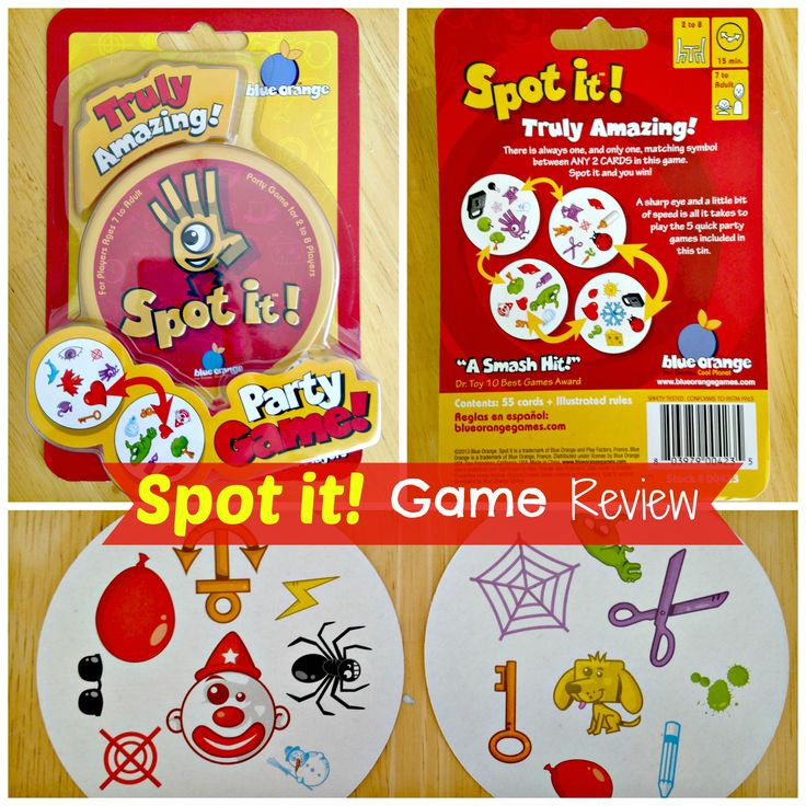 Blue Orange Spot It Card Game Review - CLICK HERE FOR DETAILS