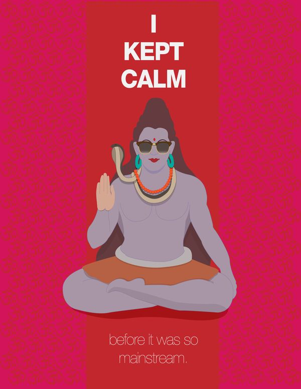 Poster #1 - Shiva kept calm before... by Dave Humphrey, via Behance