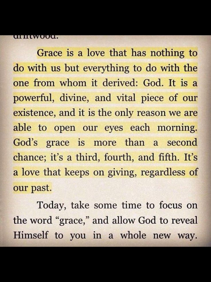 """""""My Grace is sufficient for you."""""""