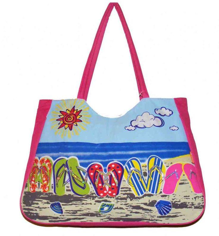 Pink Flip Flops Beach Bag - The Handbag Hut