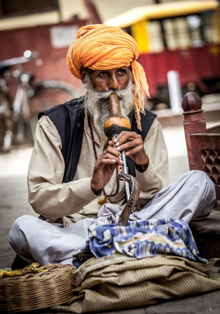 Snake charmer in India. #india #travel #photography #people
