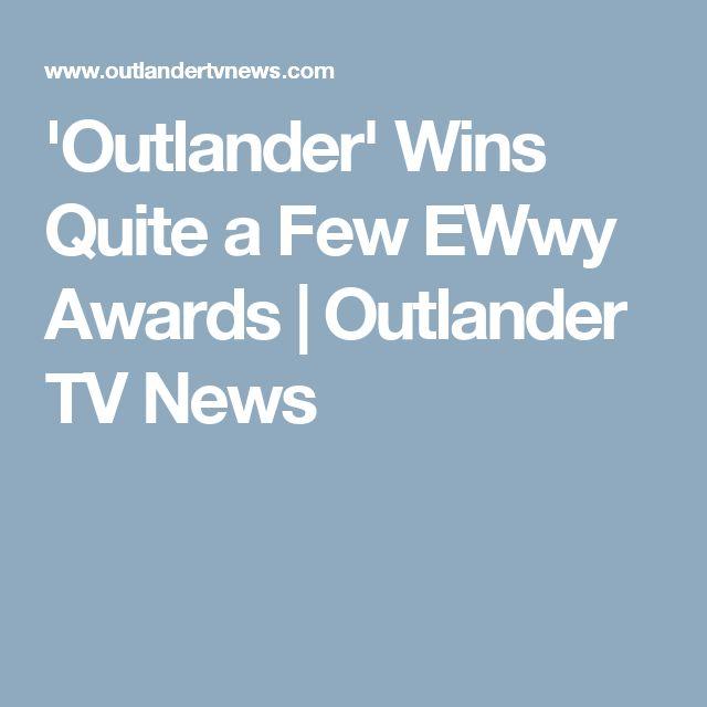 'Outlander' Wins Quite a Few EWwy Awards | Outlander TV News