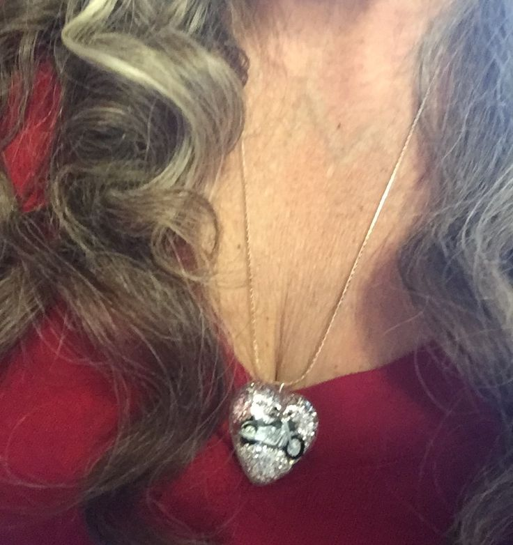 A Motorcycle Heart Necklace for the Female Bike Lover in your Life!    Buy it at the Gift Shoppe at alteregomc.com!