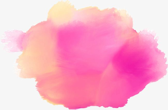 Pink Stain Watercolor Splash Dreamy Effect Png And Vector With
