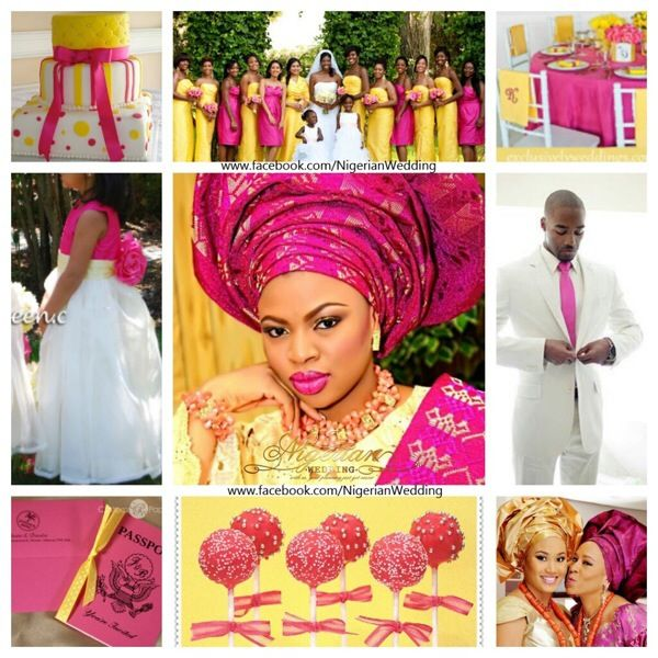 17 best images about nigerian wedding color schemes for Pink and yellow wedding theme ideas