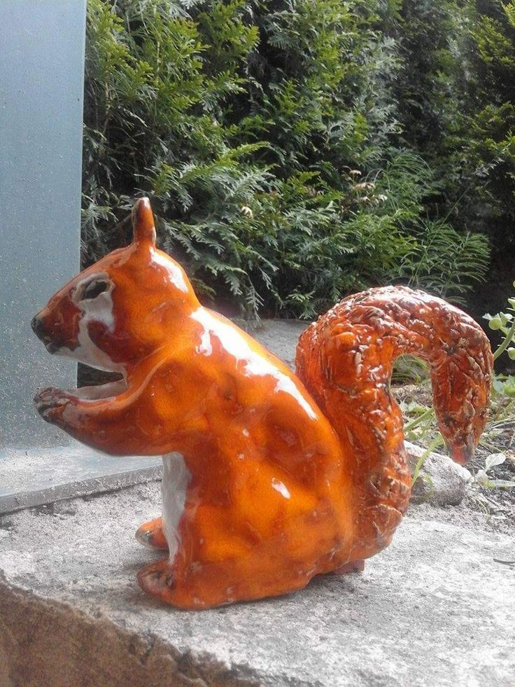 Sculpture by Sergiu Marinescu Squirrel   #ceramics #sculpture #art #squirrel