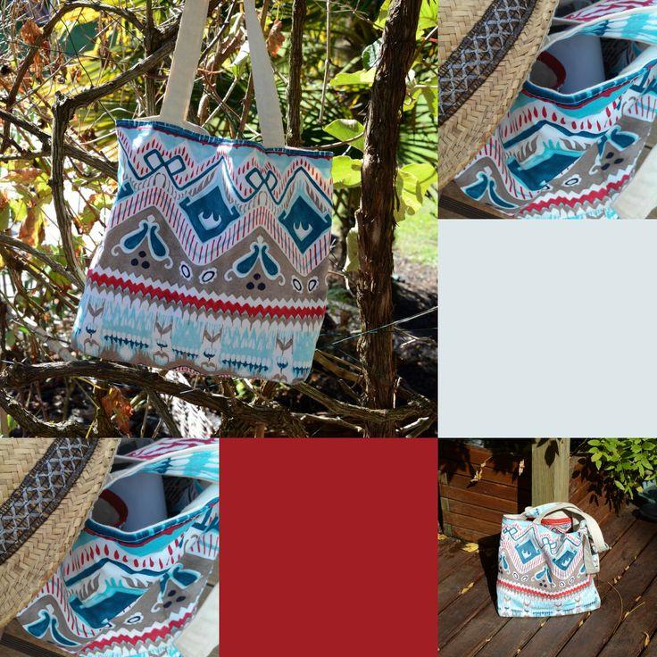 #sac #bag avec un air d' #été, avec son #bleu qui rappelle les #vagues. #création #unique  @saskiacreations