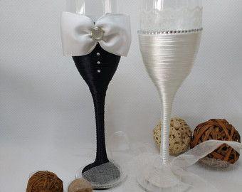 calici per le nozze di Ginartizanat su Etsy