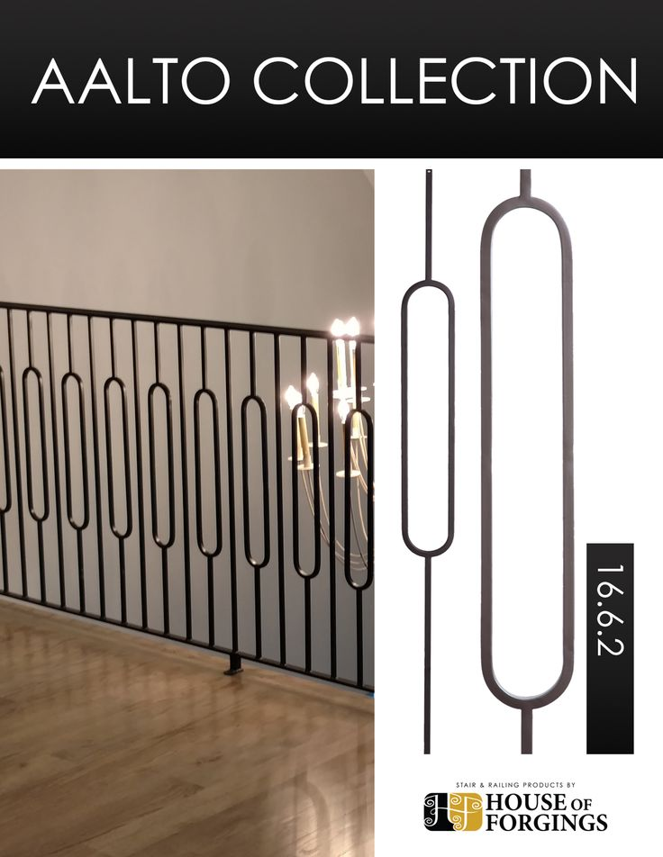 The Aalto Collection is a compliment to the modern design aesthetic. Compliment any space with the clean lines and open detail found only with Aalto. These balusters and panels are a high end low cost alternative to fully fabricated systems. Available in both Satin Black and Ash Grey powder coating the Aalto Collection is the perfect selection for your modern dwelling.  Website: http://houseofforgings.net/ Call Us: (866) 443.4848 Email: sales@houseofforgings.net  #StairRemodel…