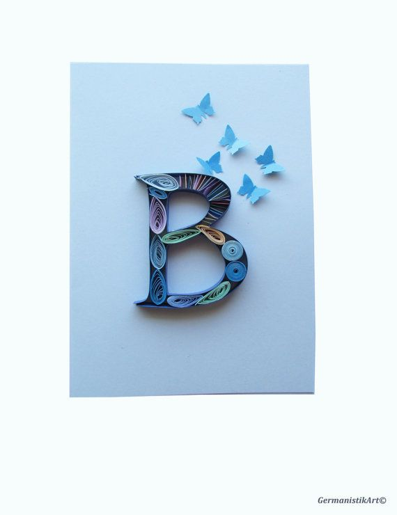 E Letter Card Lettering Personalized Greeting Card Letter Art
