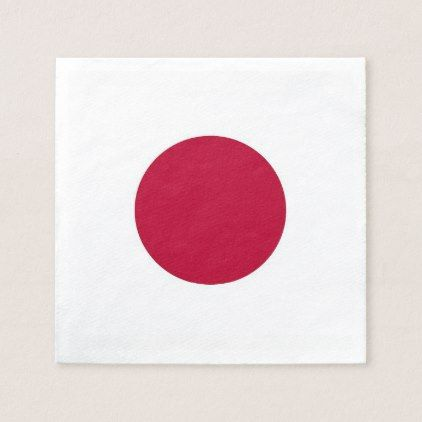 Patriotic paper napkins with Japan flag - home gifts ideas decor special unique custom individual customized individualized