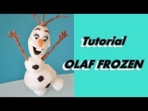 how to make OLAF FROZEN cake topper fondant - tutorial pupazzo di neve OLAF pasta di zucchero torta - YouTube
