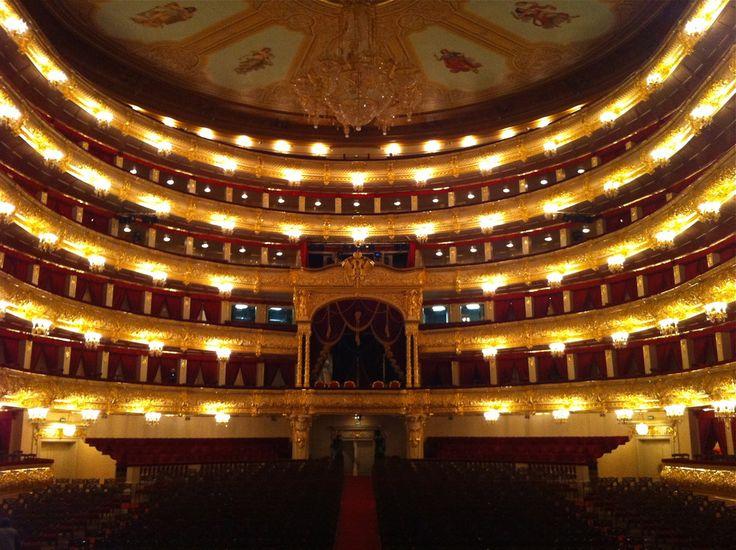 Interior of the Bolshoi Theatre.