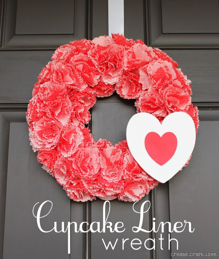 Cupcake Liner Wreath 166 best Valentine Porch