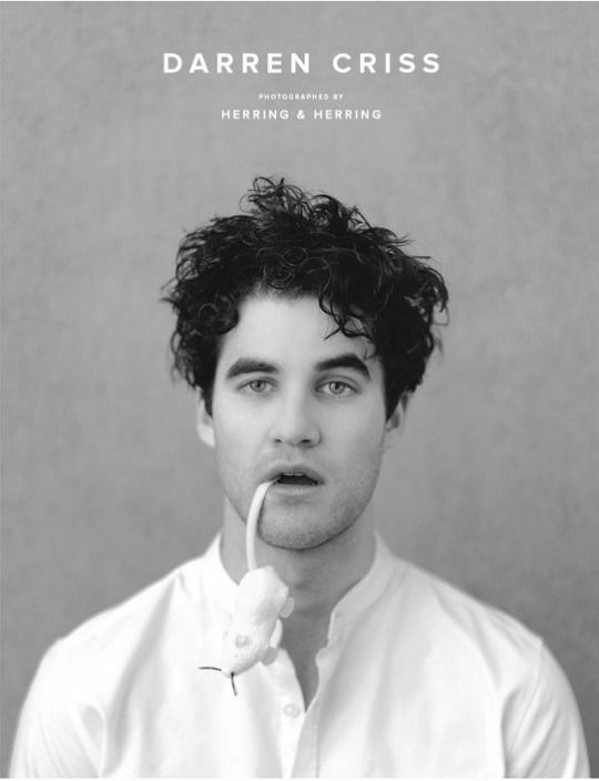 Darren Criss is super dapper in black and white in this feature for the latest issue of Herring & Herring magazine