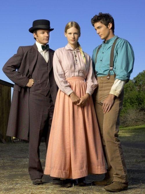 Logan Bartholomew, January Jones, and Mackenzie Astin from Love's Enduring Promise