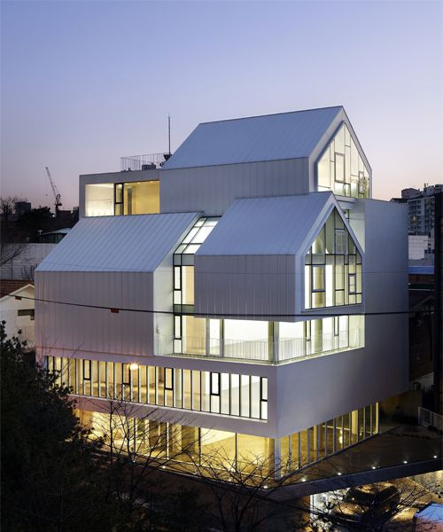 l'eau design distorts volumes with march rabbit building in seoul