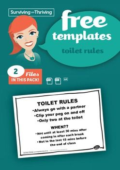 TOILET RULES POSTER