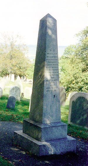 William Bradford's (Mayflower passenger) grave-Scott's Great x ? grandfather. His grave overlooks Plymouth harbor and Plymouth rock.