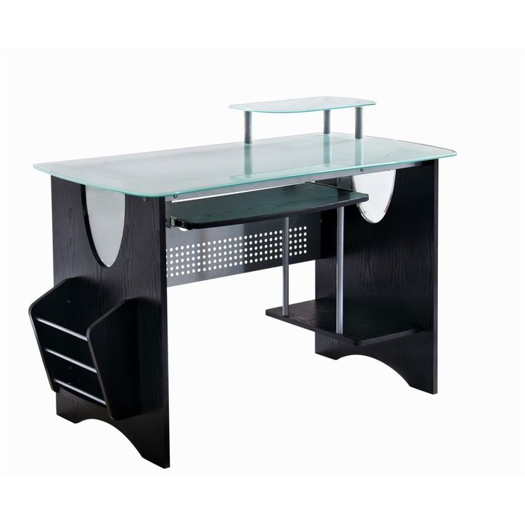 Techni Mobili Glass Surface Computer Desk
