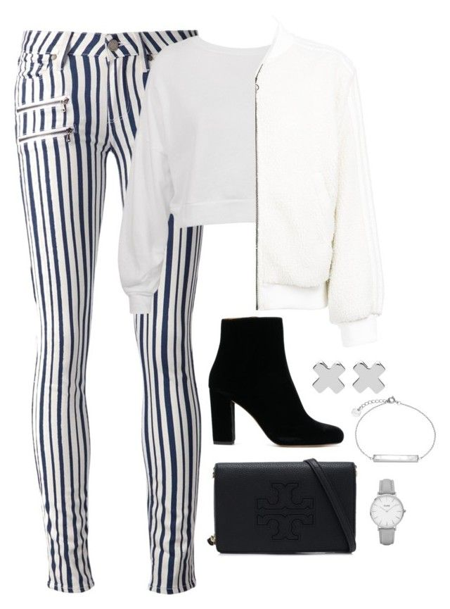 """""""OOTN 1.5.18"""" by magsmccray on Polyvore featuring Paige Denim, Sans Souci, adidas, Tory Burch, Witchery and CLUSE"""
