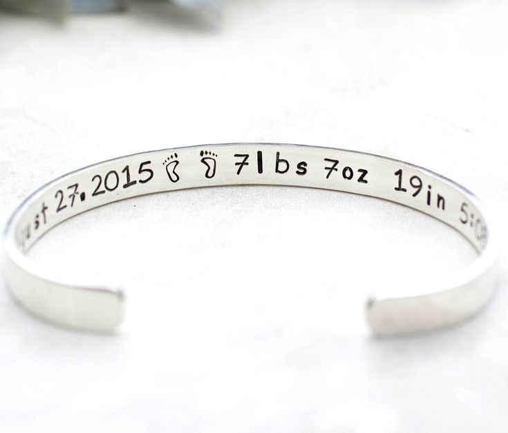 Personalized Bracelet for New Mom, Sterling Silver