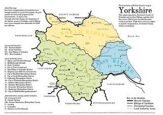 Yorkshire Trivia: True Yorkshire Map