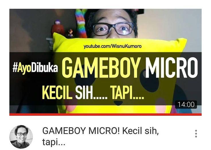 #AyoDibuka Gameboy Micro! Seri Gameboy terkecil! Kecil sih tapi.... Dan ada promo dari @nathkies untuk pembelian bantal sampai akhir November. Kayak gimana promo nya?  Ayo tonton like dan subscribe ya!  Link di Bio.  #Youtube #youtubersindonesia #vlog #vlogger #dagelan #videogames #gaming #retrogaming #unboxing #nintendo #pokemon #gameboy #gameboymicro #jualbantal #nathkies