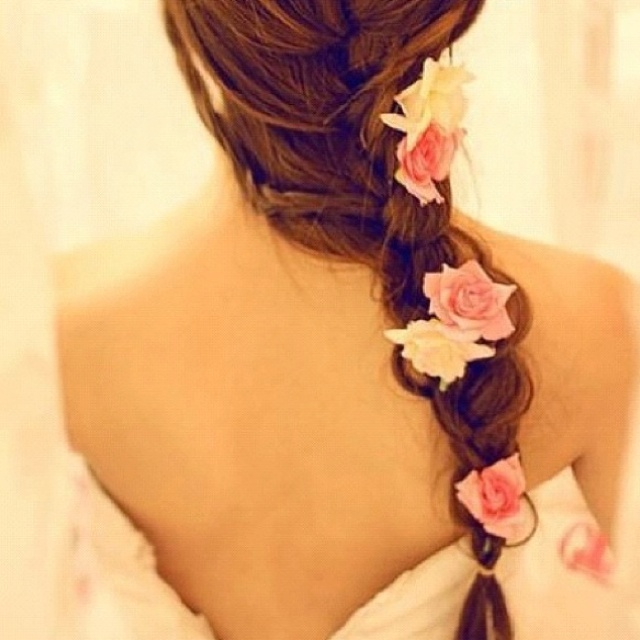 : Hairstyles, Wedding Hair, Hair Styles, Wedding Ideas, Makeup, Braids, Beauty, Flower