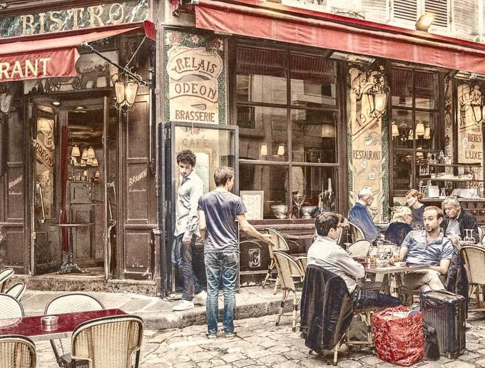 Brasserie Relais Odeon -  a postcard from Paris