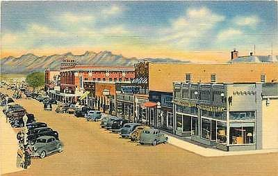Las Cruces New Mexico NM 1940 Main Street Hotel Herndon Antique Vintage Postcard - Moodys Vintage Postcards - 1