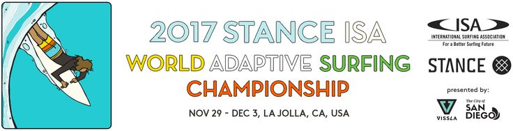 The 2017 ISA World Adaptive Surfing Championship is being held in La Jolla, California from November 29 to December 3, and is expected to break the records of participation with more than 100 athletes from 25 countries, including Costa Rica. http://isaworlds.com/adaptive/2017/en/