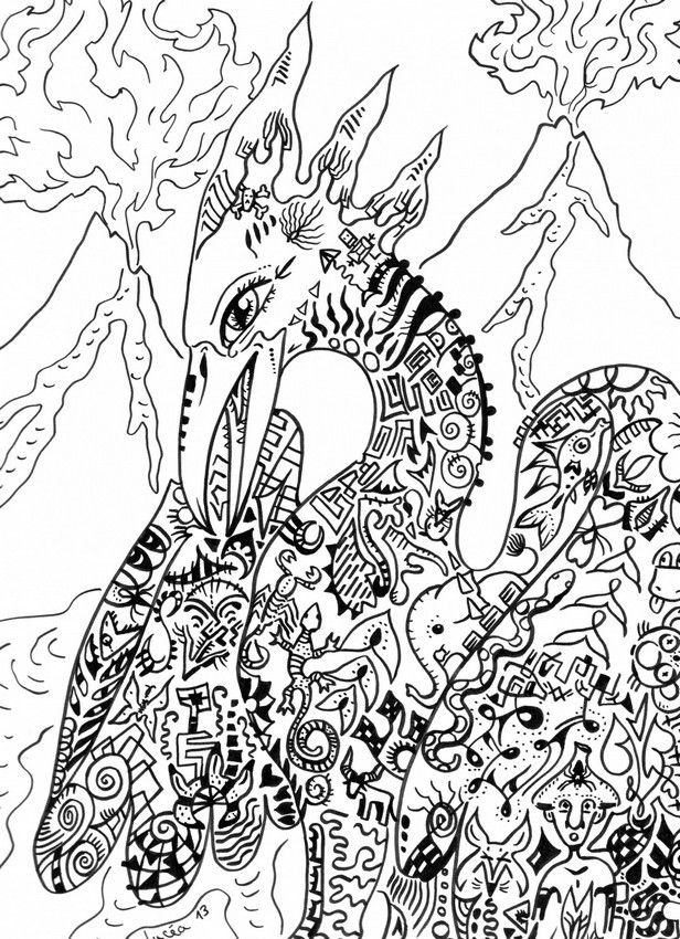 Phoenix mythical creature Colouring