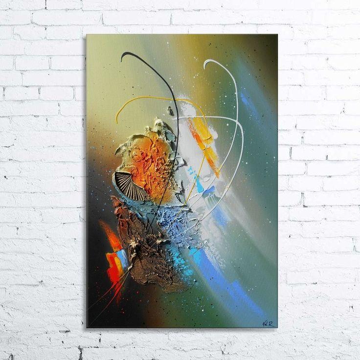 Les 25 meilleures id es de la cat gorie tableaux abstraits sur pinterest tableau acrylique - Tuto peinture abstraite contemporaine ...