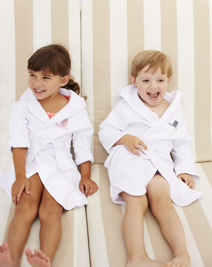 I always recommend this bathrobe for families traveling with children. The kids love how the fabric is super soft and it's perfect after a day at the pool or  an evening bath. Available for purchase at the Ritz-Carlton Naples. (239)-598-6630