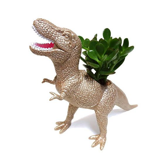 Mac the PLANTED T-Rex  - the Original Toy Planter