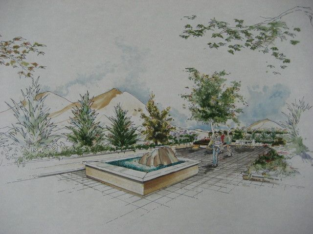 Landscape Architecture Perspective Drawings landscape architecture perspective drawings with landscape