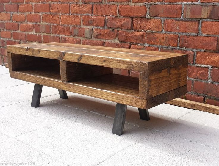 Contemporary rustic industrial tv stand unit cabinet or coffee table