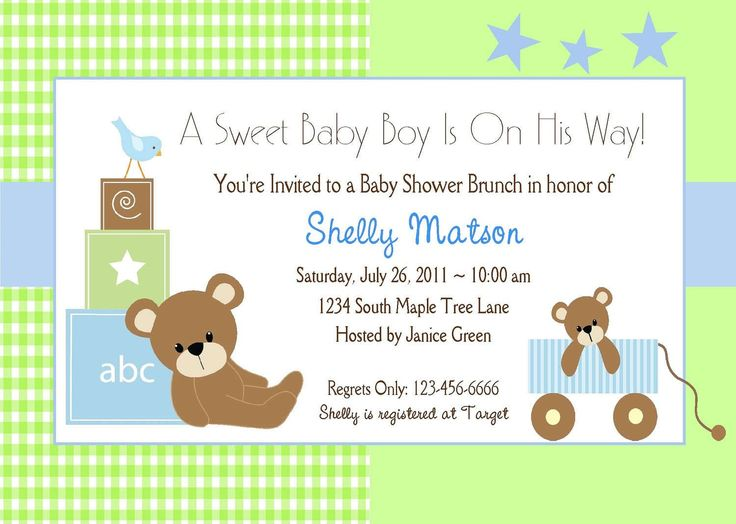Baby Shower Invitations Templates | Baby Shower Invitations Templates Fo...