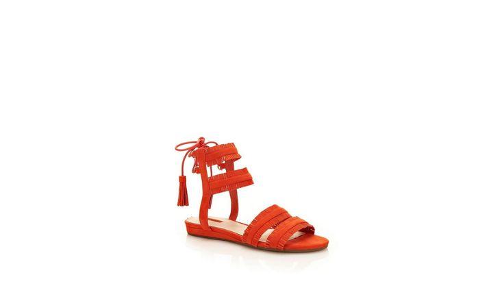 GUESS sandalen JALISA met franje online verkrijgbaar | OTTO