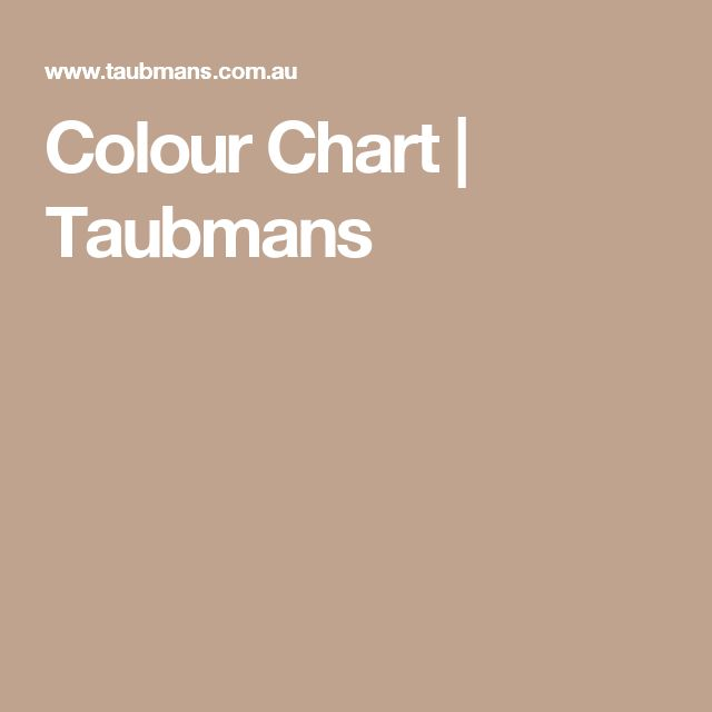Colour Chart | Taubmans
