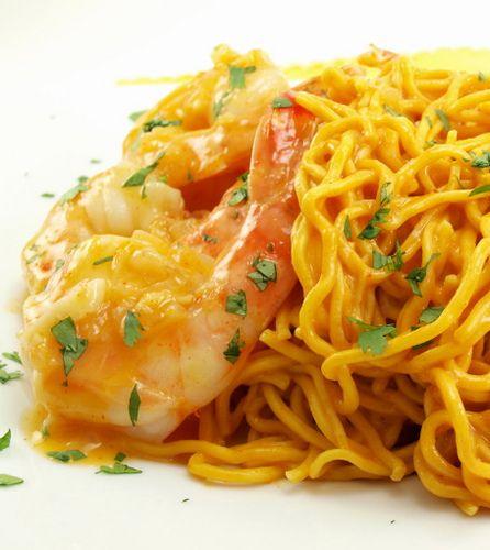Coconut Curry Shrimp with Peanut Noodles