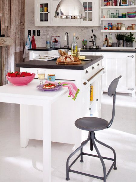 M s de 1000 ideas sobre mesas de trabajo para cocina en - Mesa extraible cocina ...