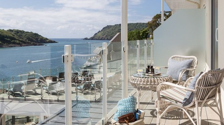 Accommodation - Salcombe Harbour Hotel & Spa, South Devon. England. There are family suites for families of 4. Or interconnecting rooms with suite options.