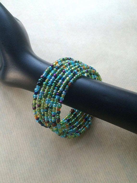 Handmade bracelet from Uganda, african style, colorful beads, african design, Christmas present, unique bracelet