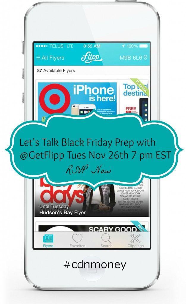 getflipp Talking Black Friday Prep with Flipp for the #CDNmoney Chat